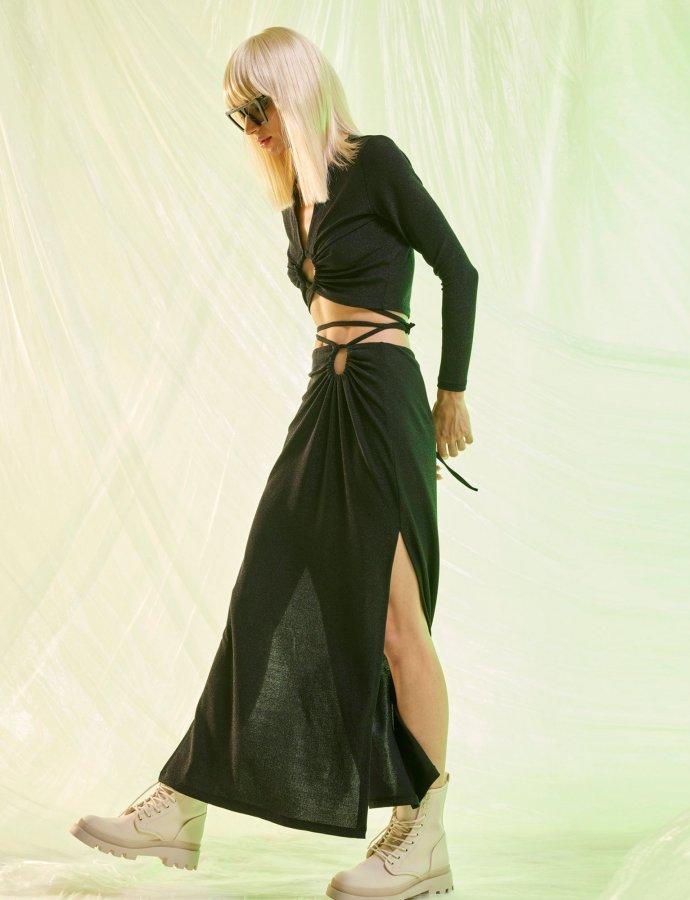 Stardust skirt sparkling black