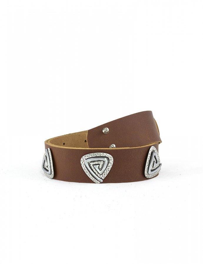 Three jewels belt tanned