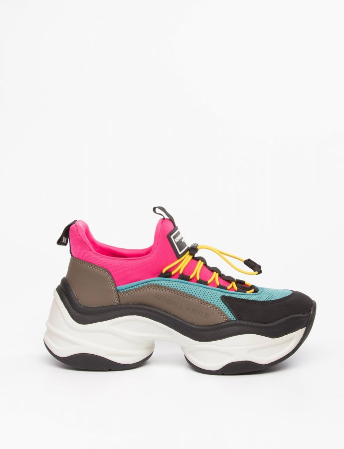 Willow sneakers taupe/teal/fuchsia