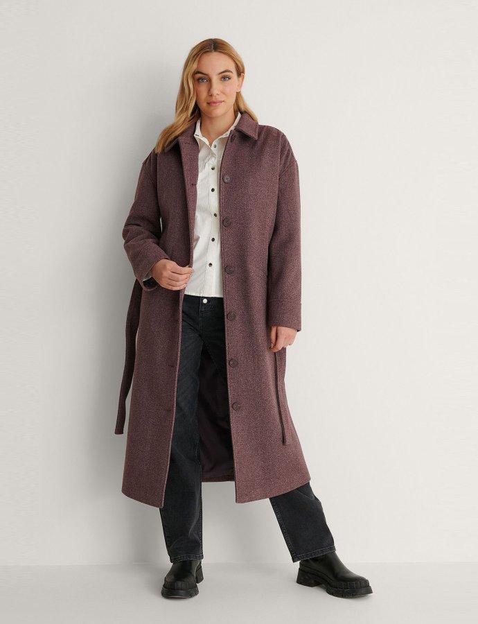 Trench coat burgundy