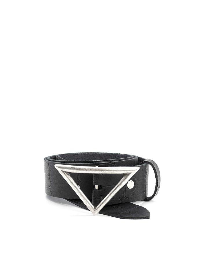 True belt black croco