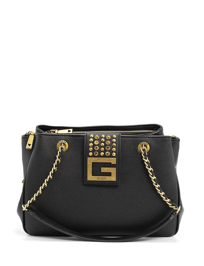 Bling shoulder bag black