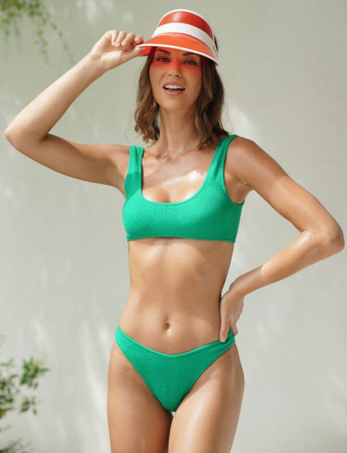 Verde brillante bikini
