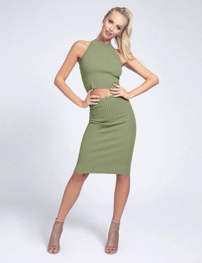 Ada rib skirt green