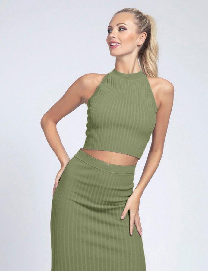 Caren top green