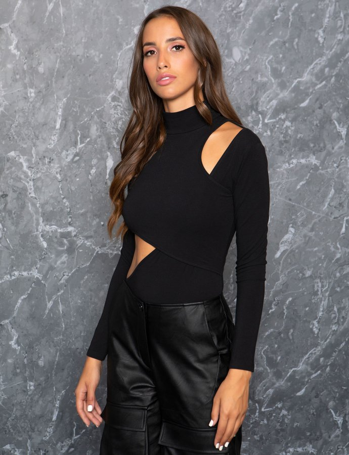 Over the top bodysuit black