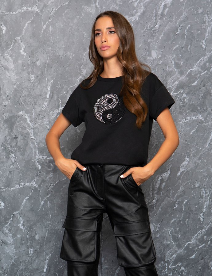Ying yang sparkle tee
