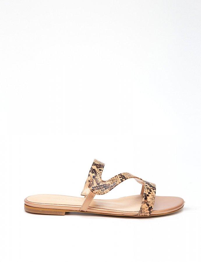 Bahama snake nude sandals