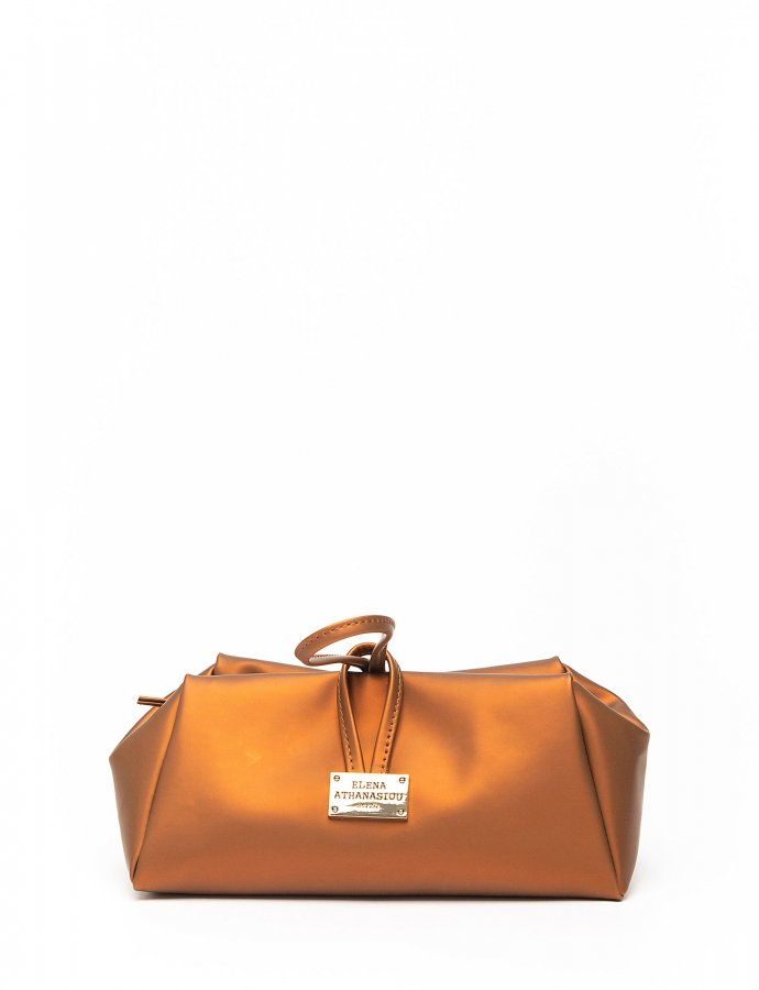 Caramel cognac large lunch bag