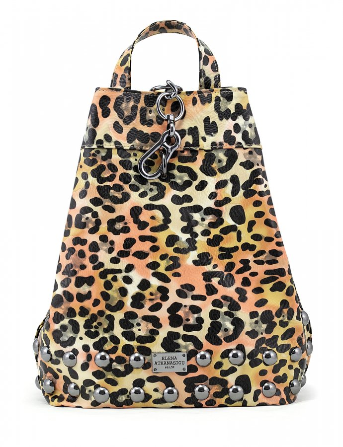 Backpack animal print yellow nickel
