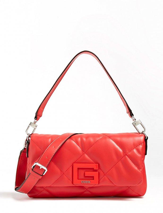 Brightside quilted shoulder bag red
