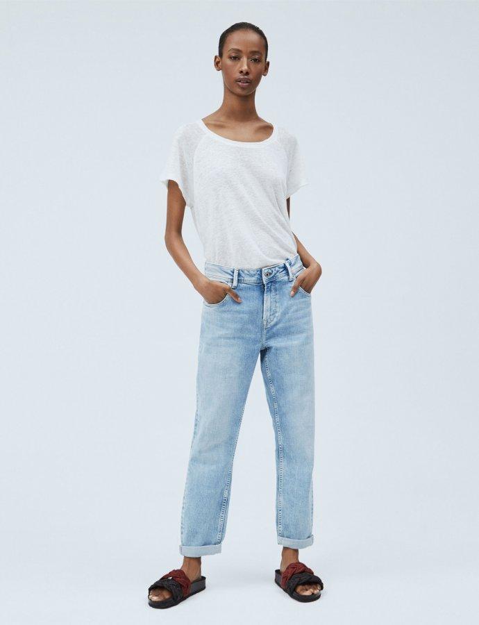 Violet carrot fit high-waist jeans