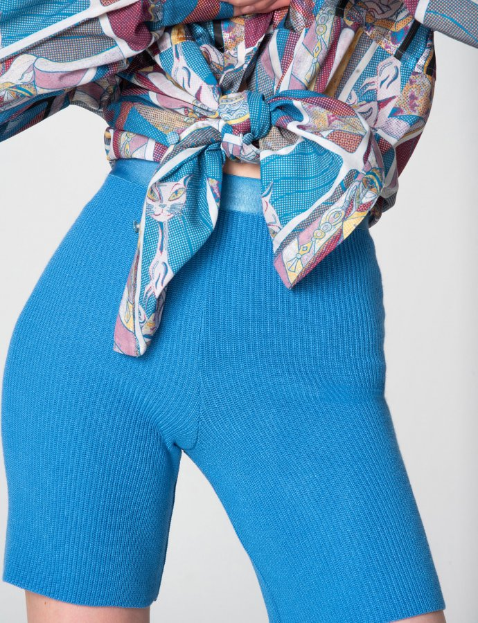 Tribes of knit leggings turquoise