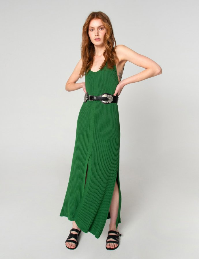 Tribes of knit dress green