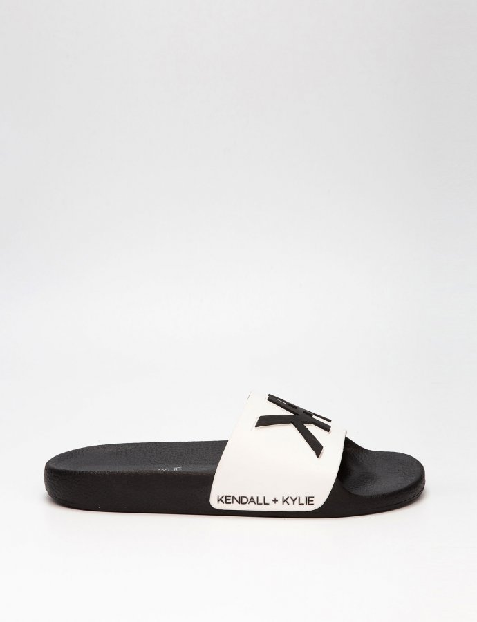 KK Ellis slippers white/black