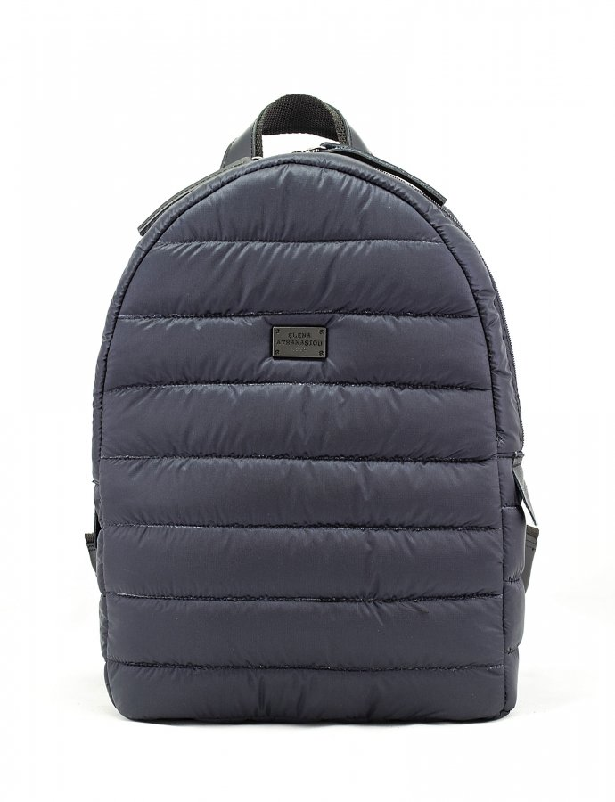 Puffer fly backpack blue-black