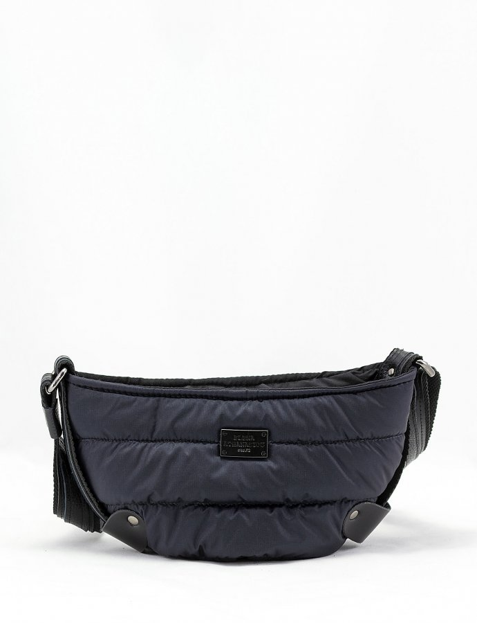 Puffer body bag small blue-black