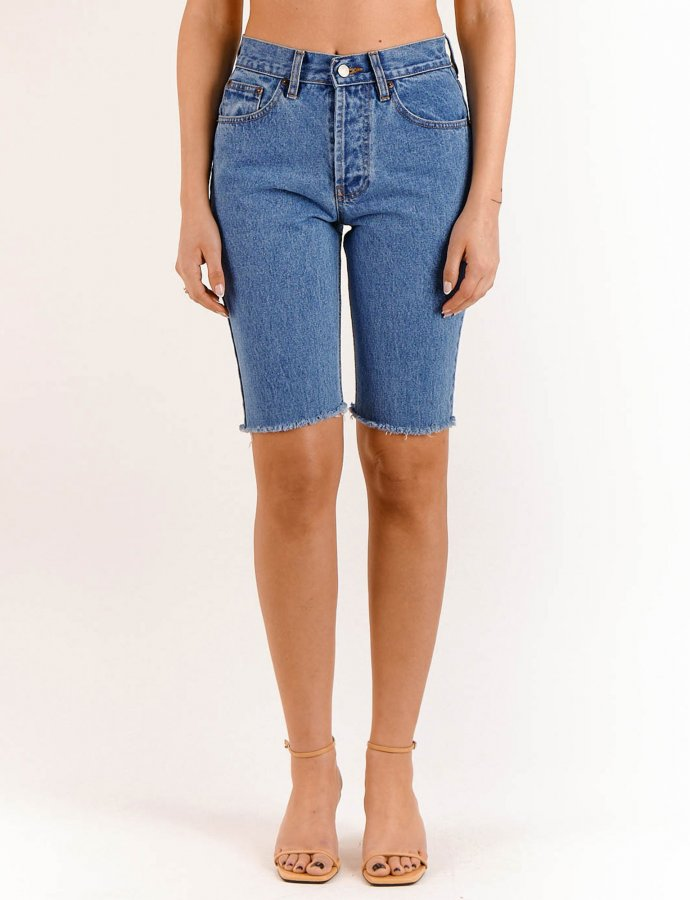 Alessia medium denim bermuda shorts