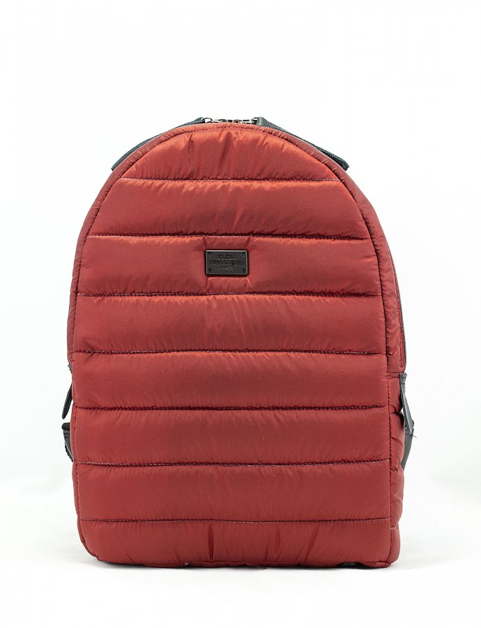 Puffer fly backpack brick red