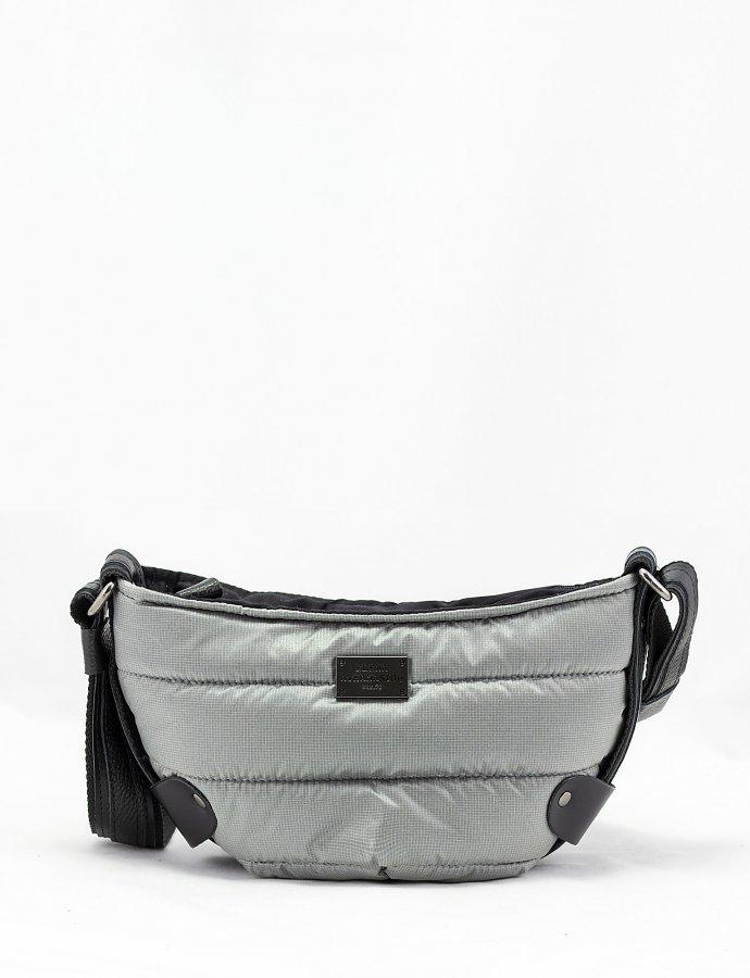 Puffer body bag small grey
