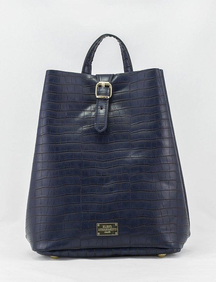 Croco backpack blue