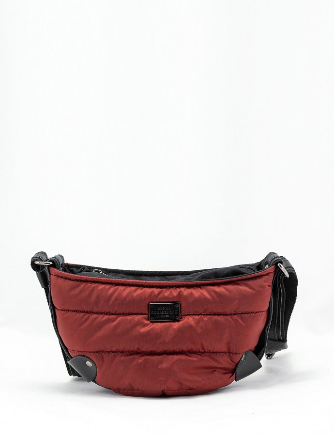 Puffer body bag small brick red