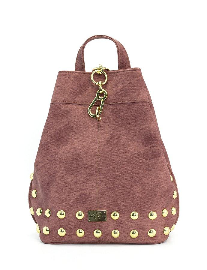 Backpack jean pattern pink gold