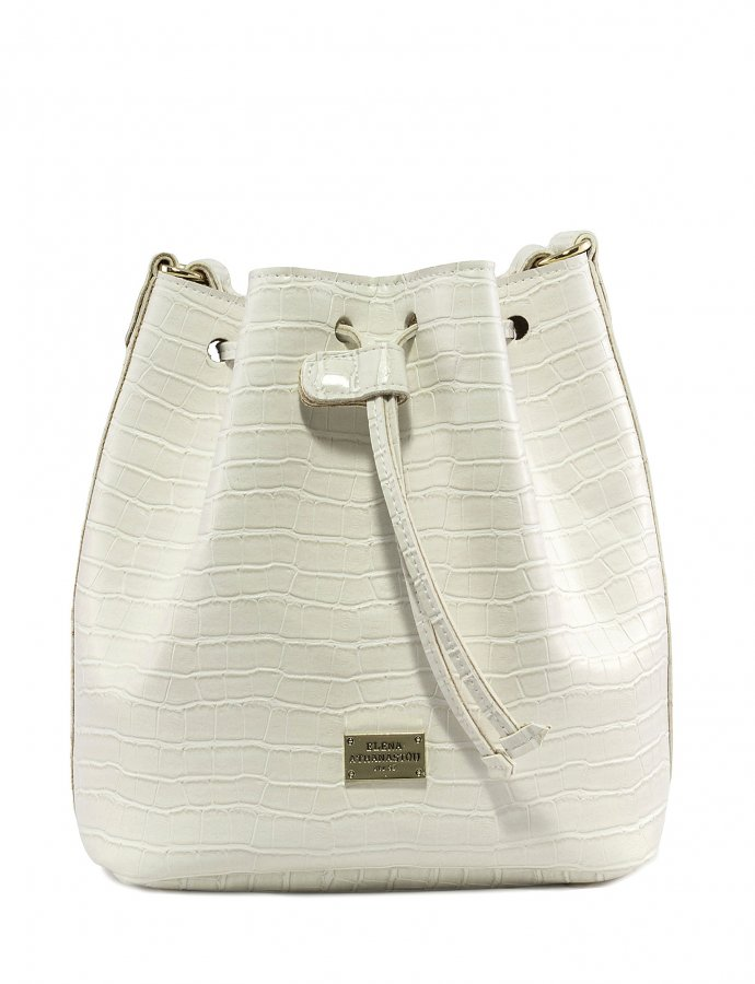 Croco pouch bag white