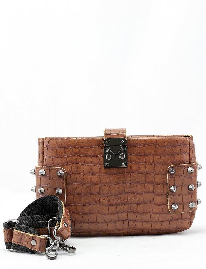 City lady croco clutch bag taupe