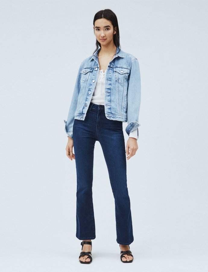 Dion flare high-waist jeans
