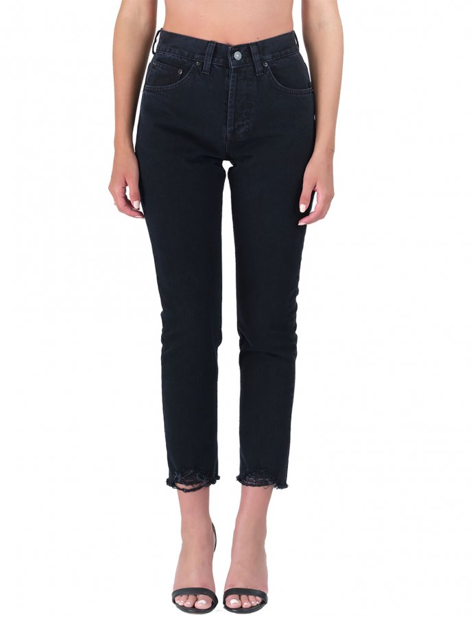 Kelly blackS/W cropped denim pants