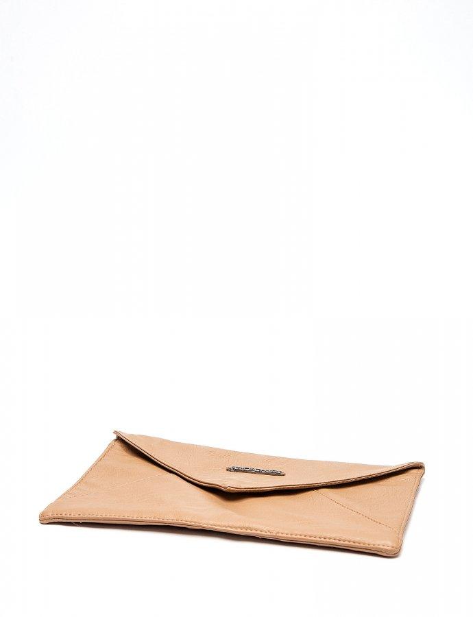 Envelope clutch bag beige