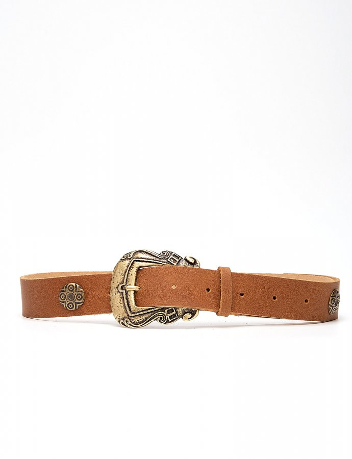 Versailles leather belt tanned