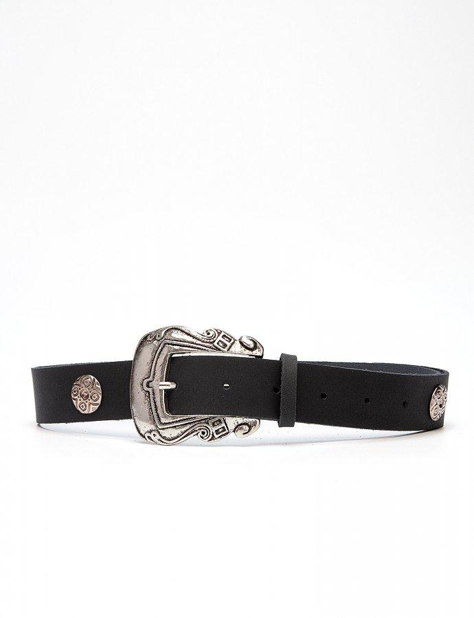 Versailles leather belt black