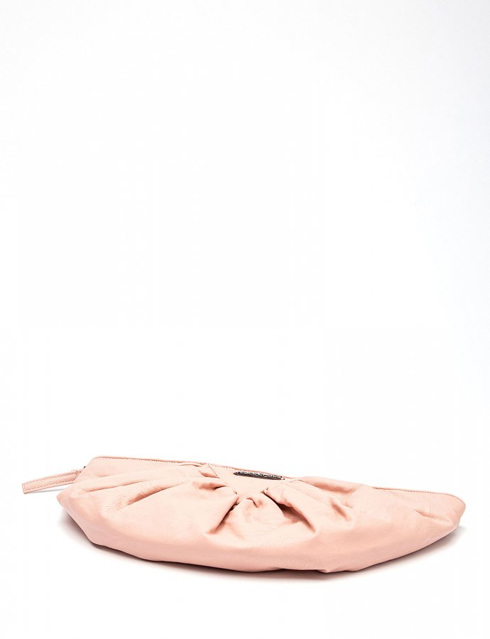 Bae eco leather clutch bag dusty pink