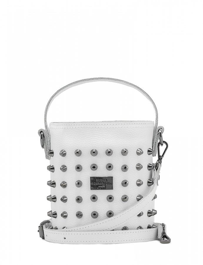 Basket bag small white
