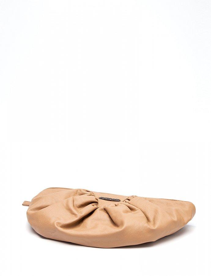 Bae eco leather clutch bag beige