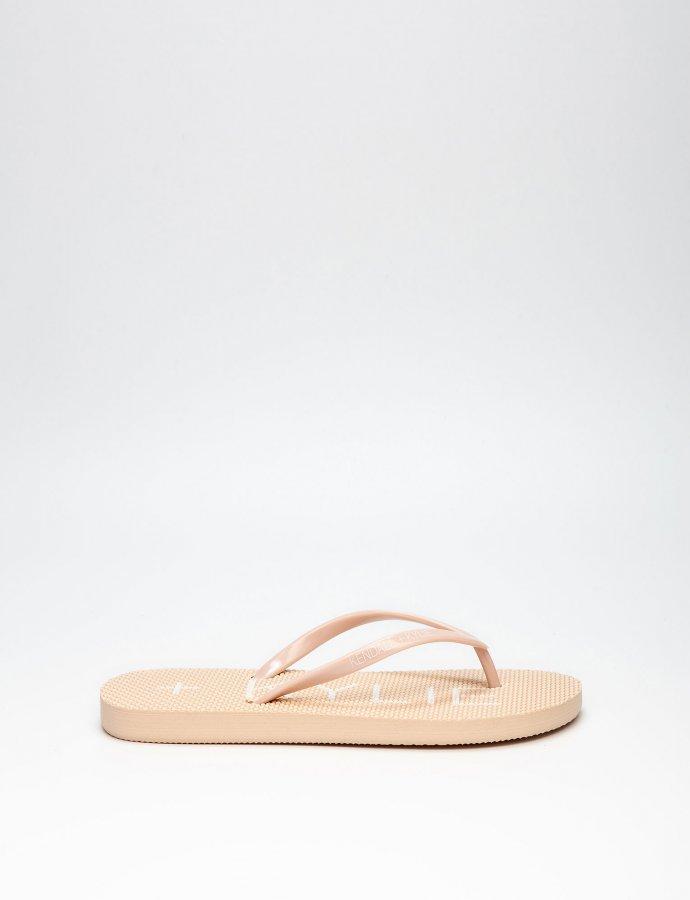 KK Eva thong slippers nude