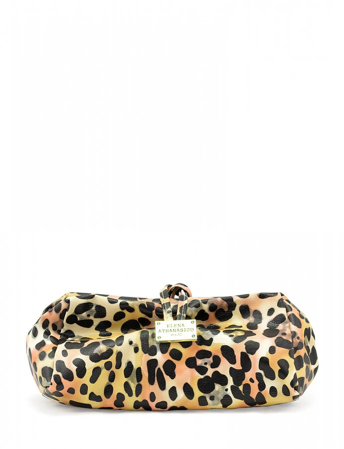 Large lunch bag animal print yellow