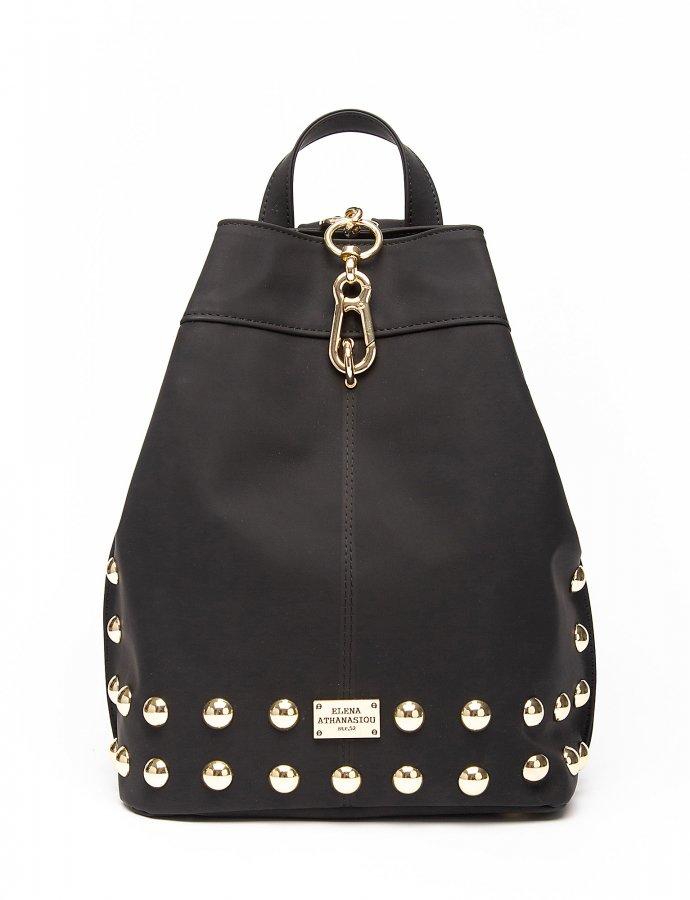Backpack matte black gold