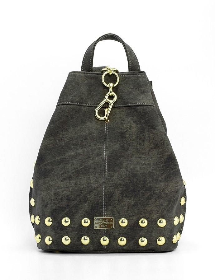 Backpack jean pattern grey gold