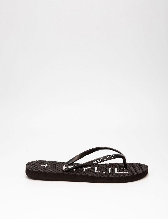 KK Eva thong slippers black