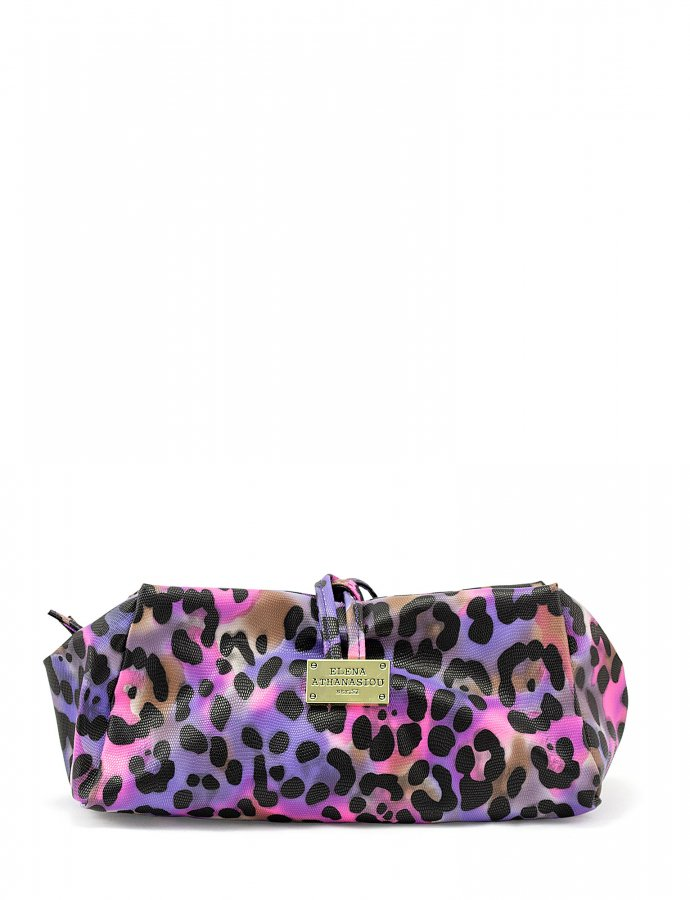 Large lunch bag animal print purple