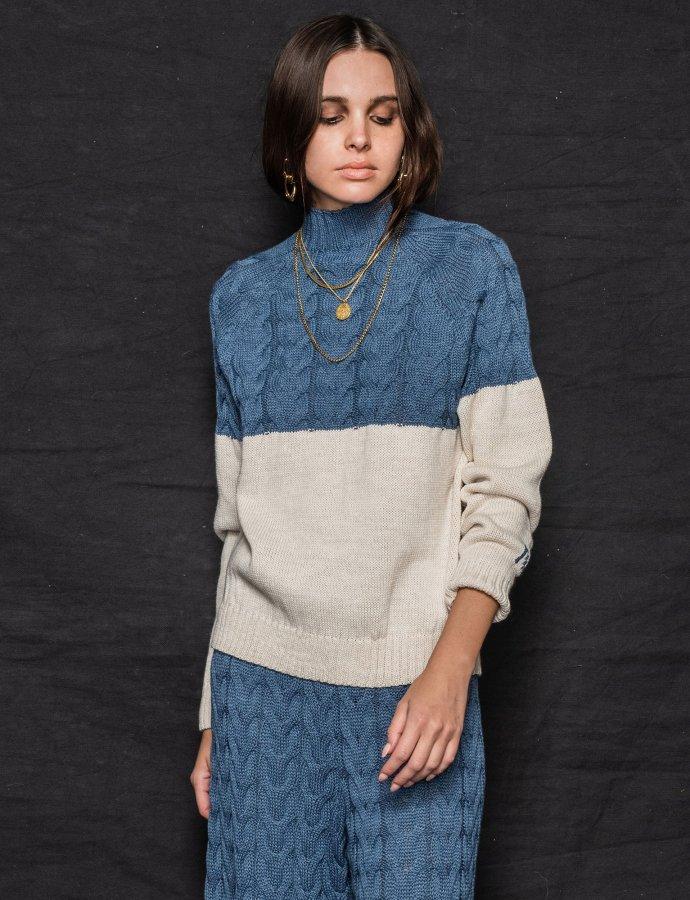 Offspring sweater blue-beige
