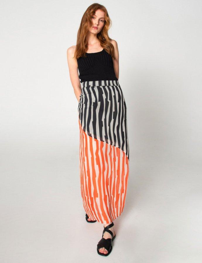 Zebras in city skirt