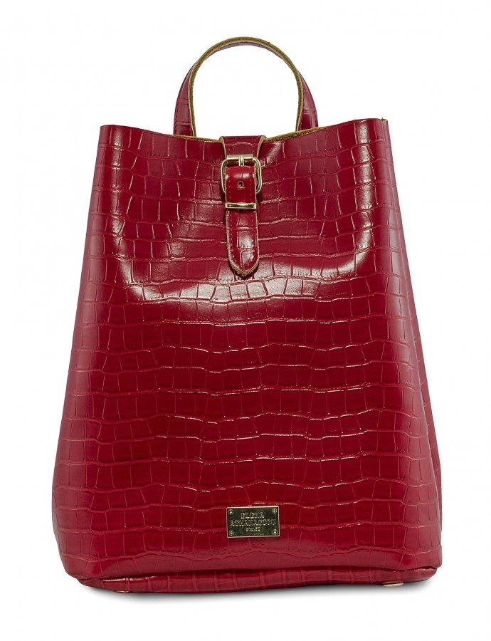 Croco backpack red