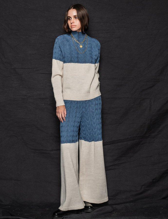 Offspring pants blue-beige