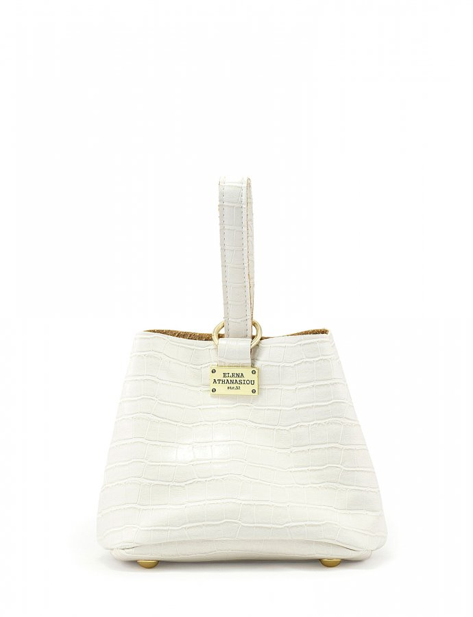 Tiny bag croco white