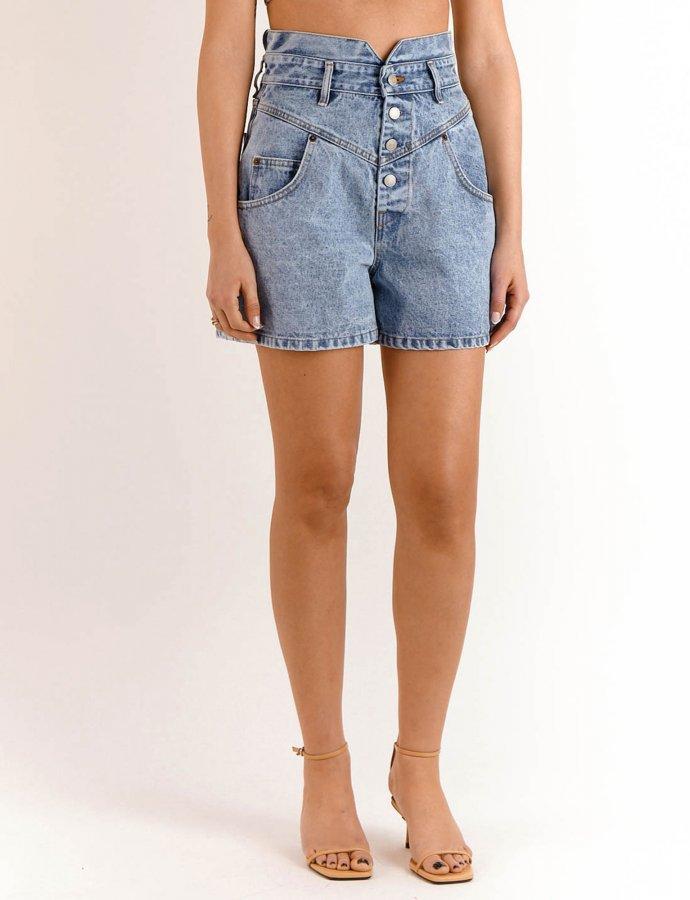 Evelyn barrel denim shorts