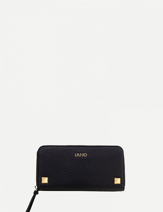 Large wallet with studs black